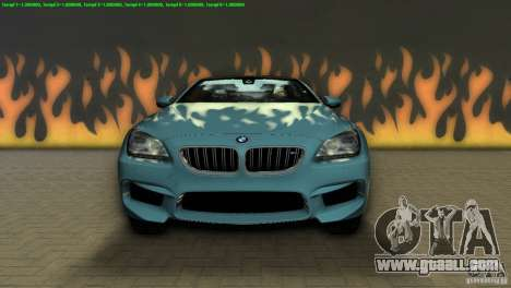 BMW M6 2013 for GTA Vice City