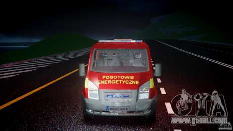 Ford Transit Polski uslugi elektryczne [ELS] for GTA 4 upper view