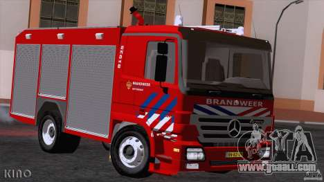 Mercedes-Benz Actros Fire Truck for GTA San Andreas left view