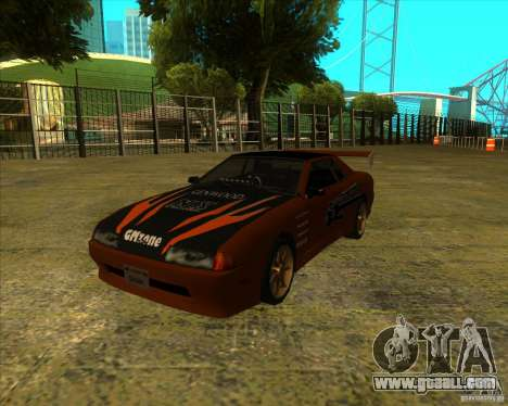 Elegy with new spoilers for GTA San Andreas back left view