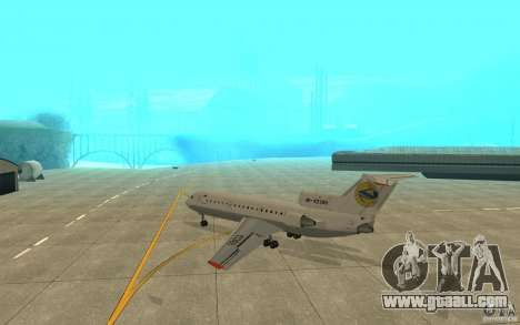 Yak-42D of Lviv (Ukraine) for GTA San Andreas right view