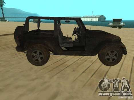 Jeep Wrangler SE for GTA San Andreas left view