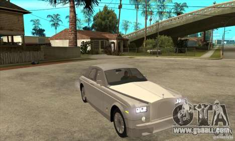 Rolls Royce Coupe 2009 for GTA San Andreas back view