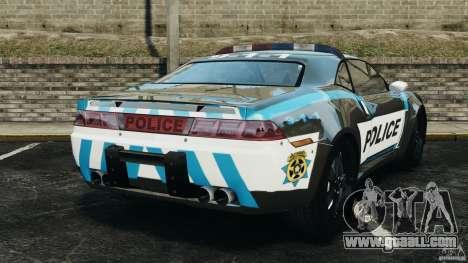 NFSOL State Police Car [ELS] for GTA 4 back left view