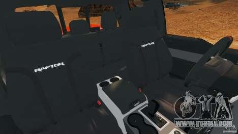 Ford F-150 SVT Raptor for GTA 4 inner view