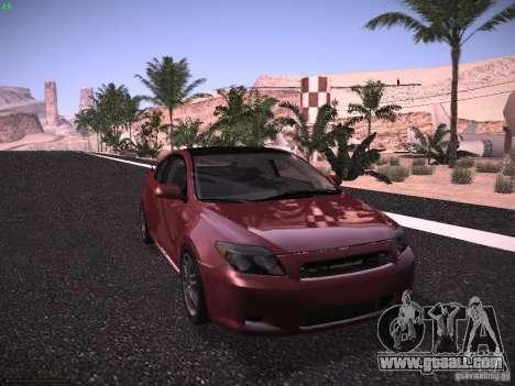 Scion tC for GTA San Andreas back left view