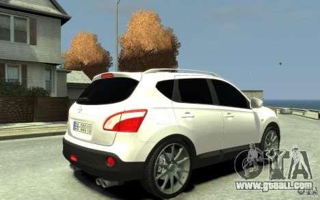 Nissan Qashqai 2010 for GTA 4 right view