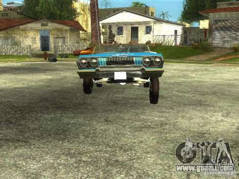 Chevrolet Impala 1964 (Lowrider) for GTA San Andreas right view