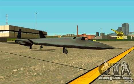 SR-71A BLACKBIRD BETA for GTA San Andreas