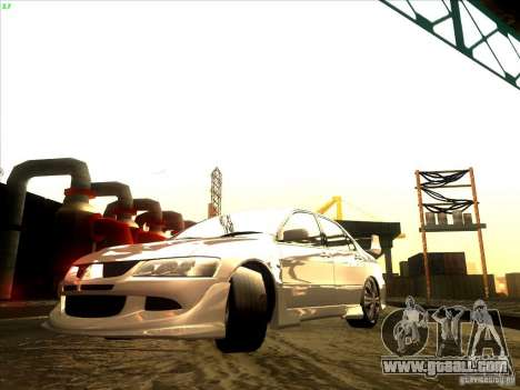 Mitsubishi Lancer Evolution VIII Full Tunable for GTA San Andreas back left view