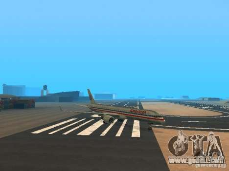Boeing 757-200 American Airlines for GTA San Andreas left view