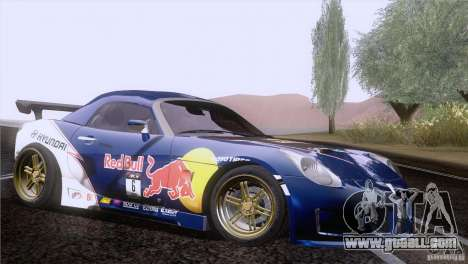 Pontiac Solstice Redbull for GTA San Andreas right view