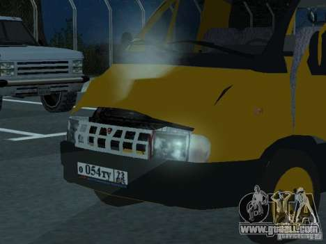 Gazelle taxi for GTA San Andreas back view