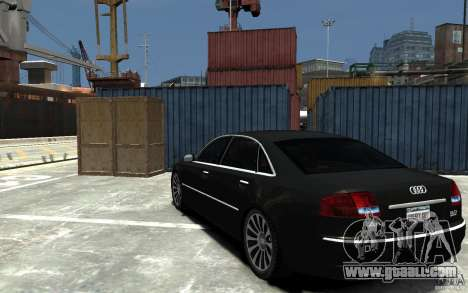 Audi A8L W12 Quattro for GTA 4 back left view