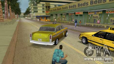 Cabbie HD for GTA Vice City back left view