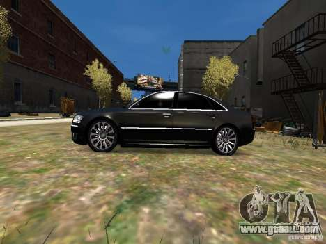 Audi A8L W12 for GTA 4 left view