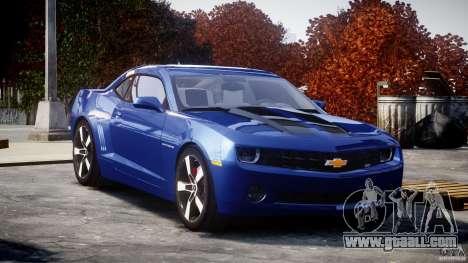 Chevrolet Camaro v1.0 for GTA 4 back view