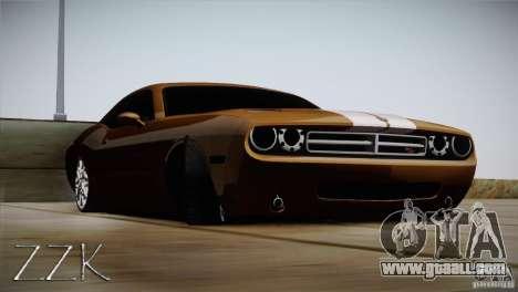 Dodge Challenger Socado Com Rotiform FIXA for GTA San Andreas back left view