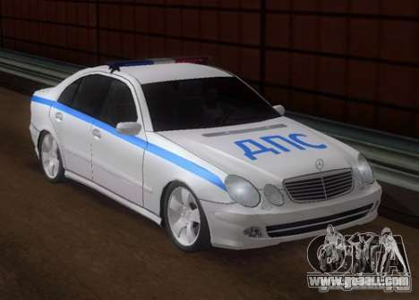 MERCEDES BENZ E500 w211 SE Police Russia for GTA San Andreas
