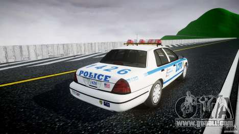 Ford Crown Victoria Police Department 2008 LCPD for GTA 4 inner view