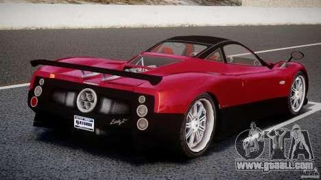 Pagani Zonda F for GTA 4 back left view