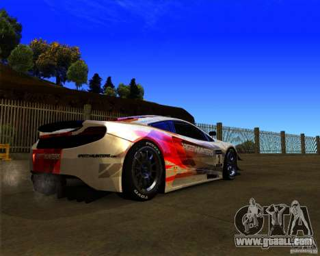 McLaren MP4 - SpeedHunters Edition for GTA San Andreas right view