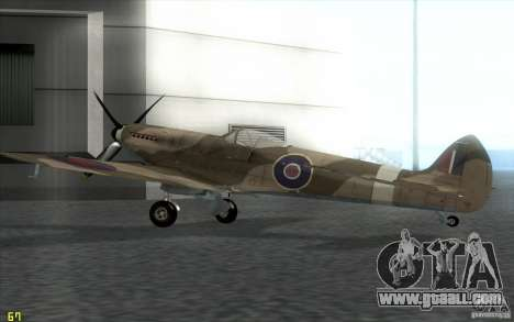 Spitfire for GTA San Andreas left view