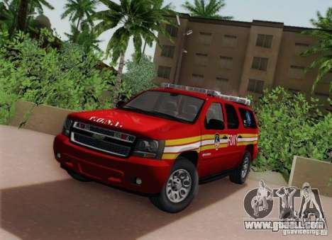 Chevrolet Suburban EMS Supervisor 862 for GTA San Andreas