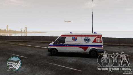 Ford Transit Ambulance for GTA 4 back left view