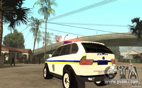 BMW X 5 DAÌ for GTA San Andreas back left view