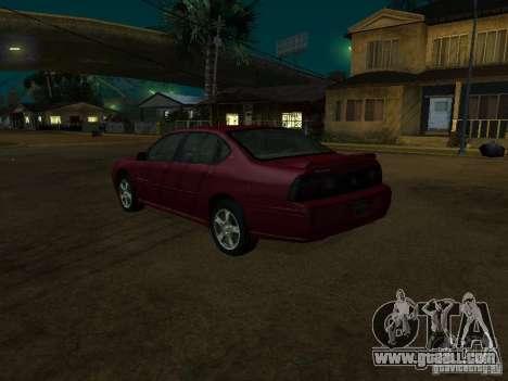 Chevrolet Impala 2003 for GTA San Andreas left view