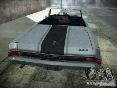 Pontiac GTO 1965 for GTA San Andreas back view
