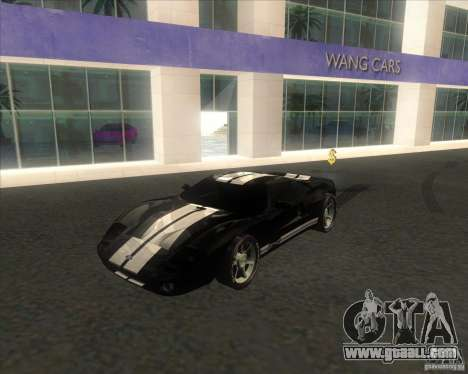 Ford GT stock for GTA San Andreas back left view