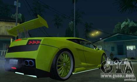 Lamborghini Gallardo LP560-4 Hamann for GTA San Andreas right view