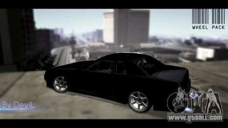 Pak JDM wheels for GTA San Andreas