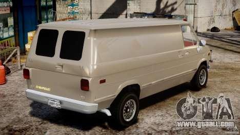 Chevrolet G20 Vans V1.1 for GTA 4 inner view