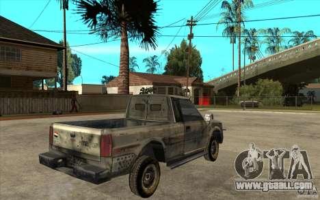 Rusty Mazda Pickup for GTA San Andreas right view