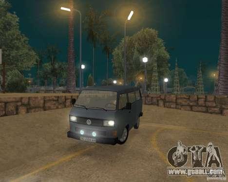 Volkswagen Transporter T3 for GTA San Andreas left view