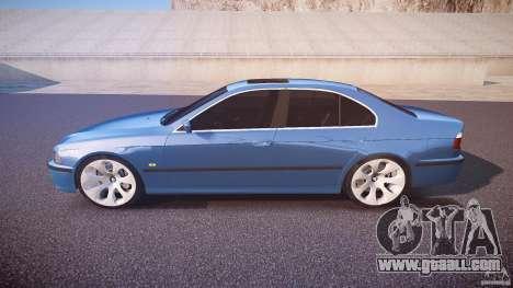 BMW 530I E39 e63 white wheels for GTA 4 left view