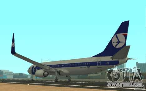 Boeing 737 LOT Polish Airlines for GTA San Andreas back left view