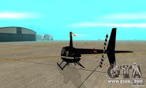 Robinson R44 Raven II NC 1.0 Black for GTA San Andreas right view