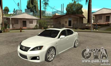 Lexus IS F 2009 for GTA San Andreas left view