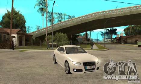 Audi S5 2008 for GTA San Andreas back view