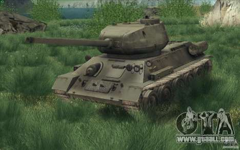 T-34-85 from the game COD World at War for GTA San Andreas right view
