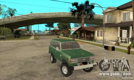 Toyota Land Cruiser for GTA San Andreas back view