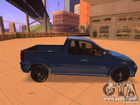 Nissan NP200 for GTA San Andreas back left view