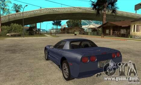 Chevrolet Corvette 5 for GTA San Andreas engine