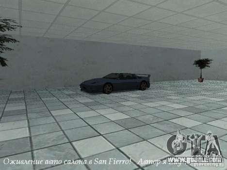 Working showroom in San Fierro v1 for GTA San Andreas second screenshot