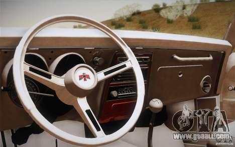 Pontiac Firebird 400 (2337) 1968 for GTA San Andreas