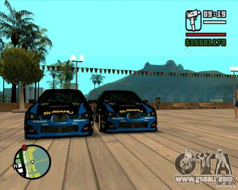Subaru Impreza WRC STI 2007 Ken Block for GTA San Andreas left view